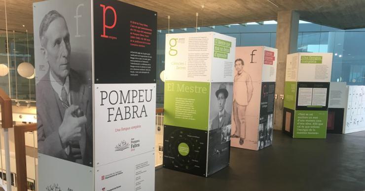 Obre una exposició dedicada a Pompeu Fabra al vestíbul de la Casa de la Cultura