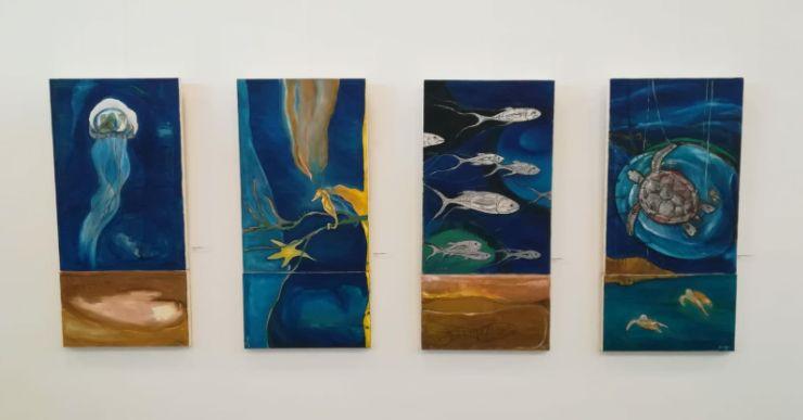 La mostra 'Silencis' es pot visitar a la sala d'exposicions de la Casa de la Cultura