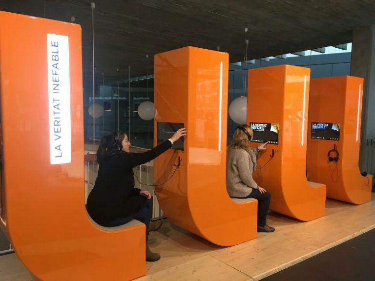 Una mostra interactiva sobre Ramon Llull ocupa el vestíbul de la Biblioteca