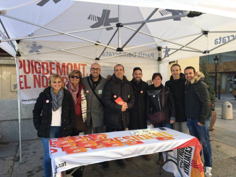 """JxCat reclama """"el retorn del president Puigdemont i del govern legítim"""", aquest diumenge a Lloret"""