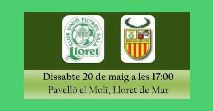 Jornada crucial per al Club Unió Futbol Sala Lloret, que pot certificar l'ascens a Tercera