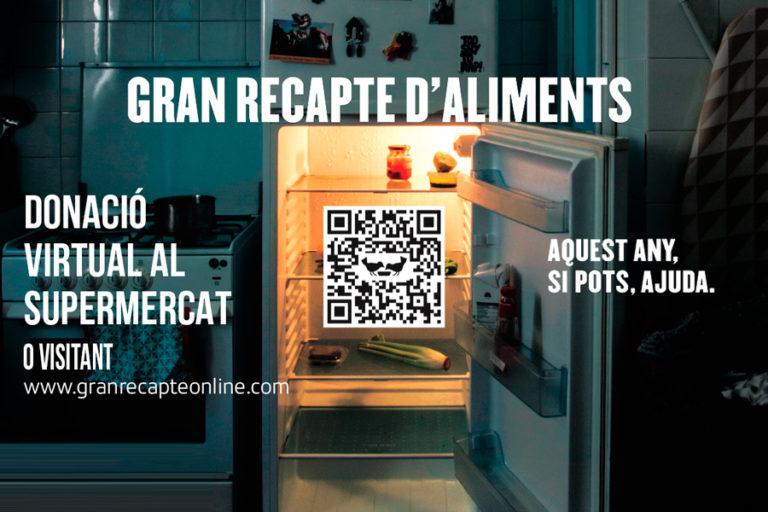 El Gran Recapte d'Aliments aquest any serà virtual