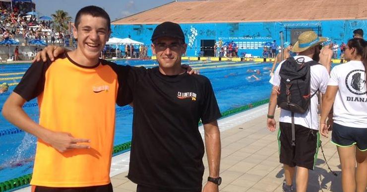 Guillem Ruiz és un dels 20 millors d'Espanya en la prova dels 100 metres braça