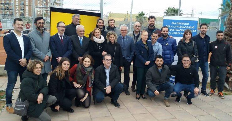 Inaugurades les pistes municipals de tennis i pàdel de Lloret de Mar