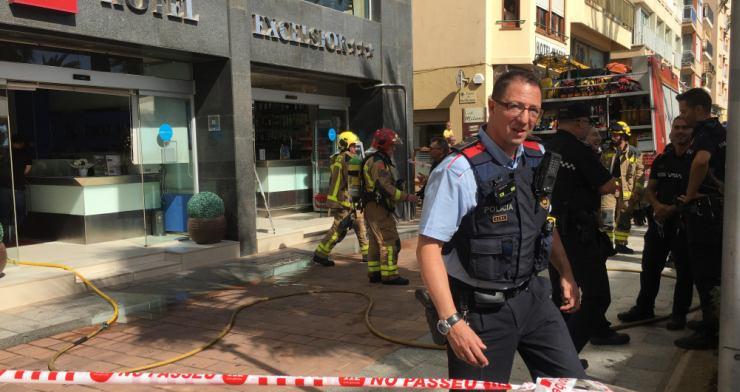 Incendi sense ferits en dues habitacions de l'Hotel Excelsior, al passeig Verdaguer