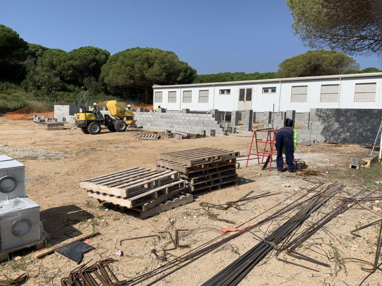 Comencen les obres dels nous mòduls a l'institut Sant Quirze