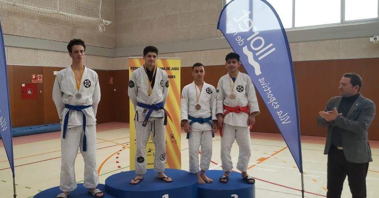 Daniil Oganesyan i Ileas Cheba (Judo Nova Unió), medalla de bronze al Campionat de Catalunya de Jiu Jitsu