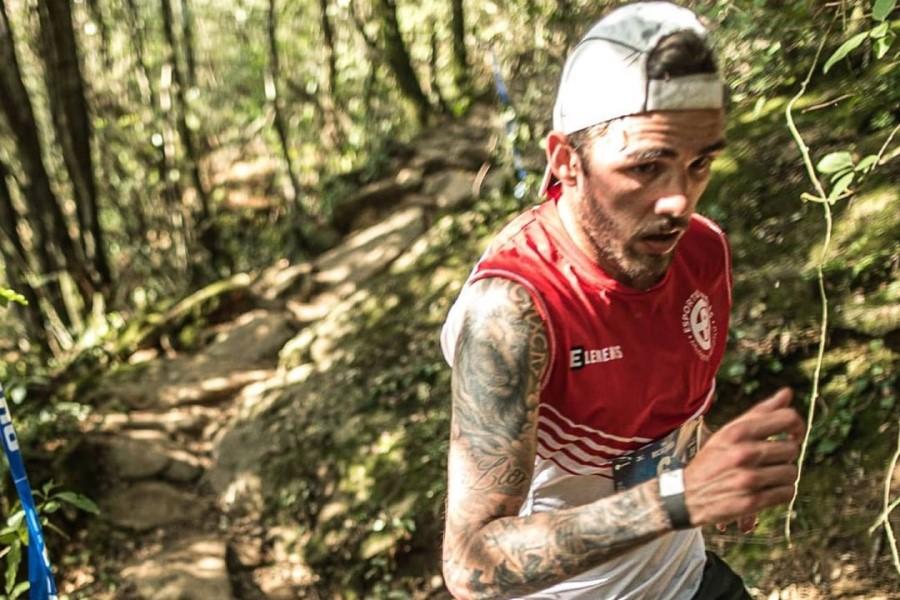 Jonathan Romeo, durant la cursa (Trail Rocacorba)