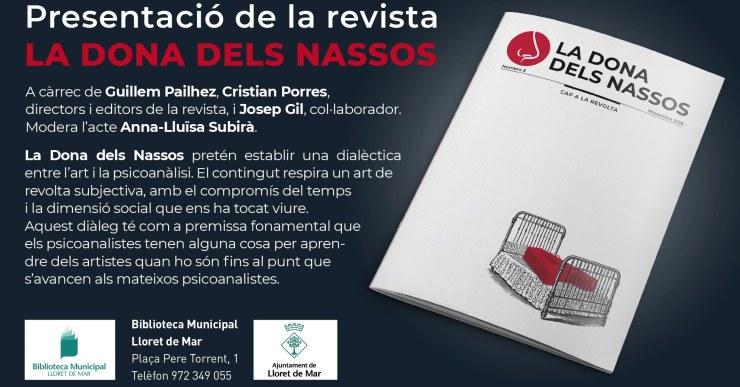 El número 3 de la revista 'La dona dels nassos' es presentarà a Lloret aquest dissabte