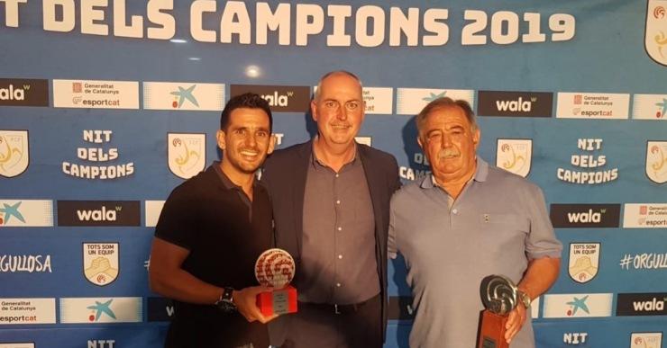 Antonio Pérez rep un reconeixement de la Federació pels 30 anys de dedicació al Lloret