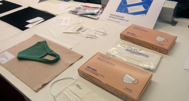 La fàbrica Nylstar, de Blanes, crea unes mascaretes antivirals que duren tres mesos