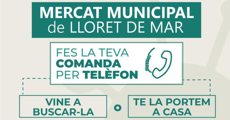 El Mercat Municipal reparteix comandes a domicili per fomentar que la gent es quedi a casa