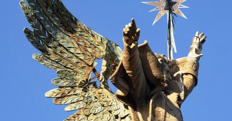 SOS Lloret denuncia el mal estat del monument de l'Àngel i altres elements modernistes de Sant Pere del Bosc