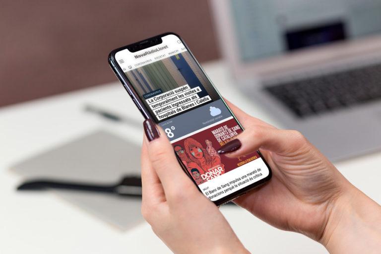 El web de Nova Ràdio Lloret va rebre 700.000 visites al llarg del 2020