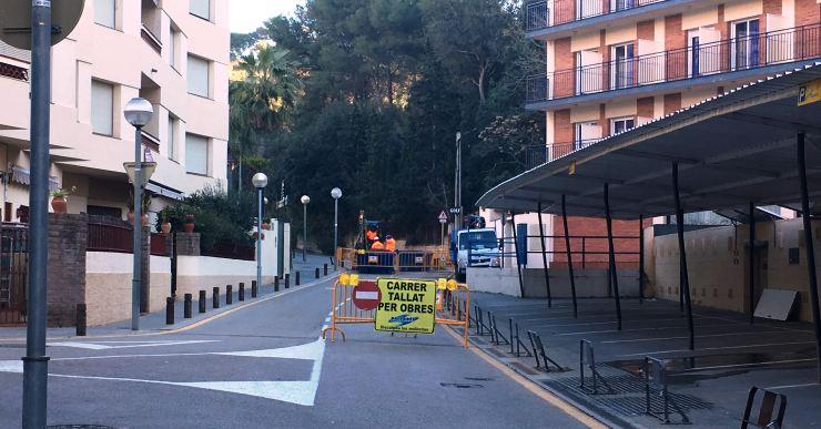 El camí de Lloret a Tossa està tallat al trànsit per unes obres que duraran uns 15 dies