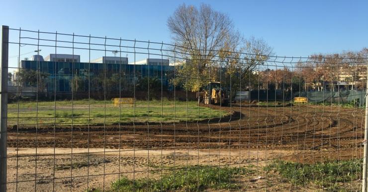 Comença la primera fase del projecte de les pistes de pàdel i tennis amb l'adequació del pàrquing