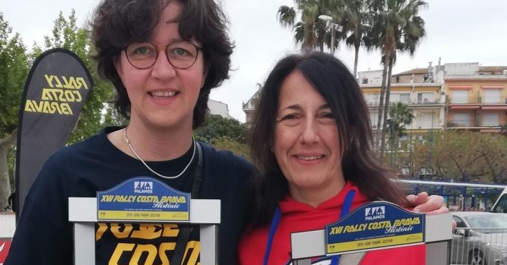 Pili Jimenez i Susanna Permanyer, en acabar el ral·li
