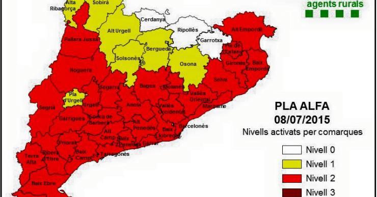 Protecció Civil activa el Nivell 2 del Pla Alfa a Lloret i comarca