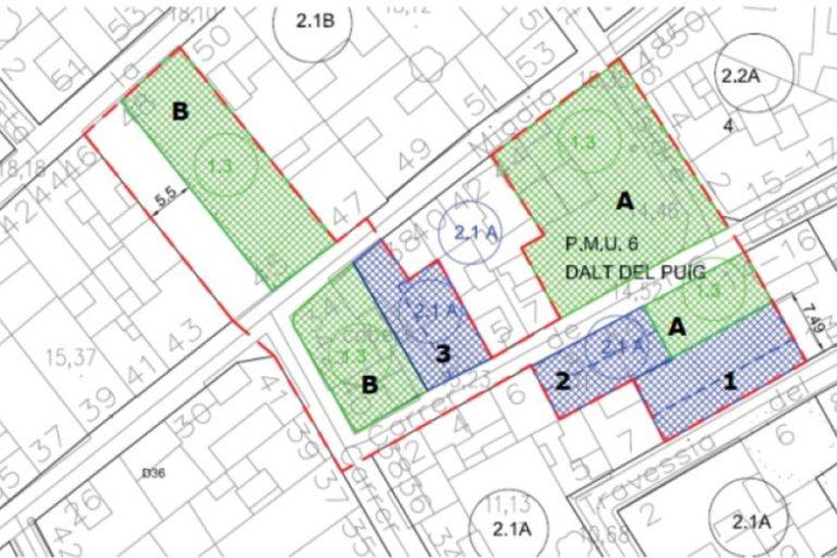 L'Ajuntament crearà diferents zones verdes a la zona de Dalt del Puig
