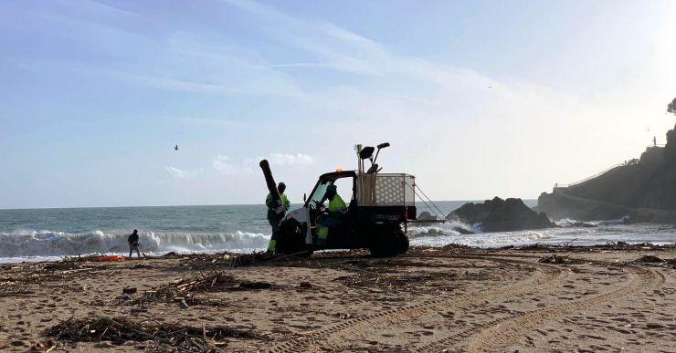 Pràcticament total normalitat a Lloret de Mar després del pas del temporal Glòria