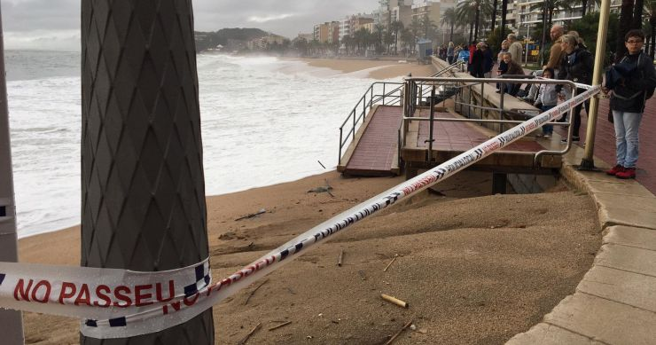 Poca afectació a Lloret de Mar pel temporal de pluja i vent, segons Protecció Civil