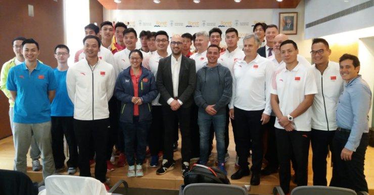 La selecció xinesa de waterpolo valora positivament les facilitats per entrenar a Lloret