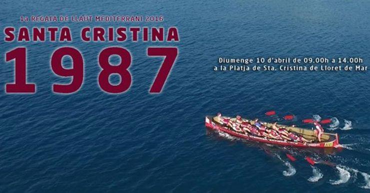 Santa Cristina acull una regata de pretemporada amb el llaüt del Mediterrani