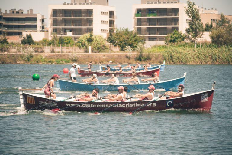 El club de rem Santa Cristina arrasa a la regata de Sant Jaume d'Enveja