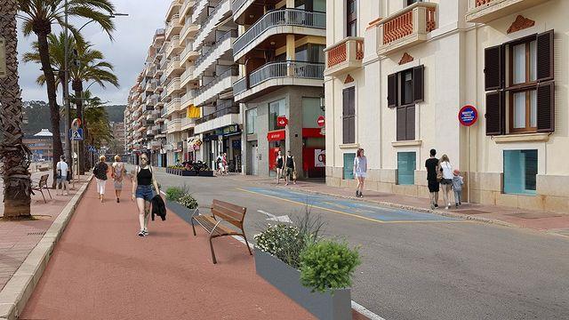 Render de com podria quedar el passeig (Ajuntament de Lloret de Mar)