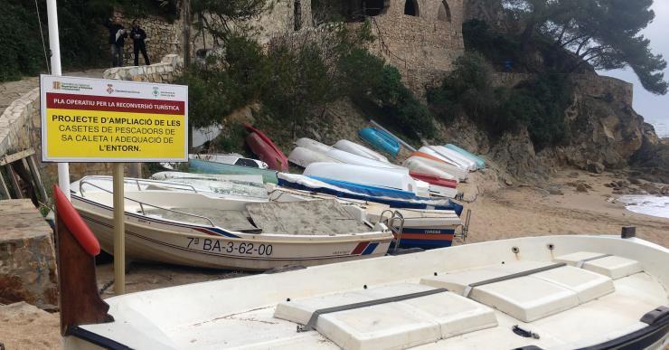 Comencen les obres de remodelació de les casetes de pescadors i l'adequació de l'entorn a Sa Caleta