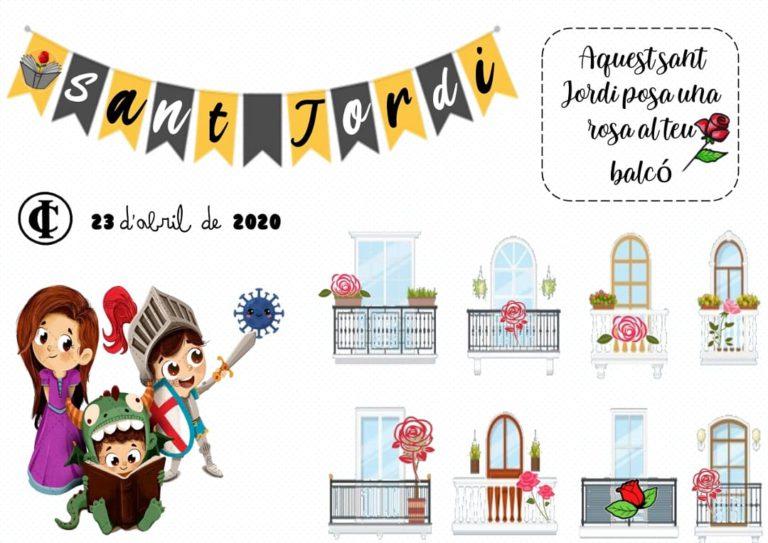 'Per Sant Jordi posa una rosa al teu balcó', la iniciativa conjunta dels centres educatius de Lloret de Mar