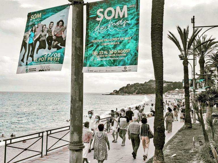 Tot a punt per al festival Som de Mar, que avui comença a muntar l'escenari als jardins de Santa Clotilde
