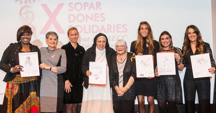 Rècord de recaptació en el sopar de dones contra el càncer de mama: 6.885 euros