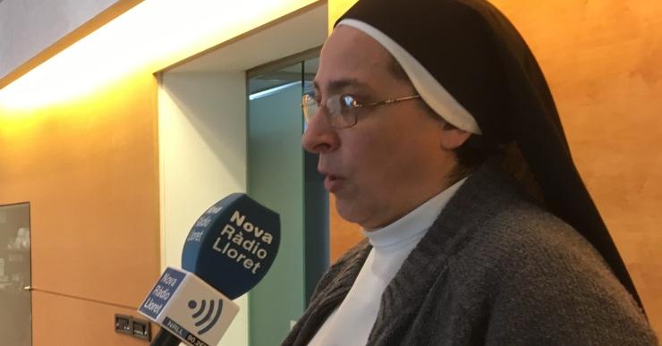 Sor Lucía Caram ha estat a Lloret per començar a treballar en el programa Invulnerables