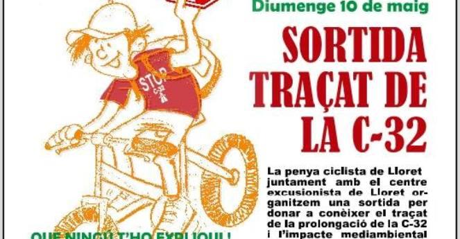 Marxa reivindicativa en contra de la prolongació de l'autopista fins a Lloret