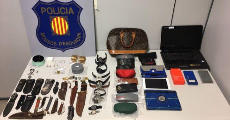 Detinguts dos homes per robar en domicilis de Lloret de Mar i altres municipis catalans