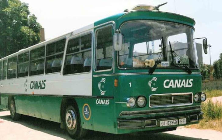 Un autocar de Canals del 1997 (Joan Pinell)