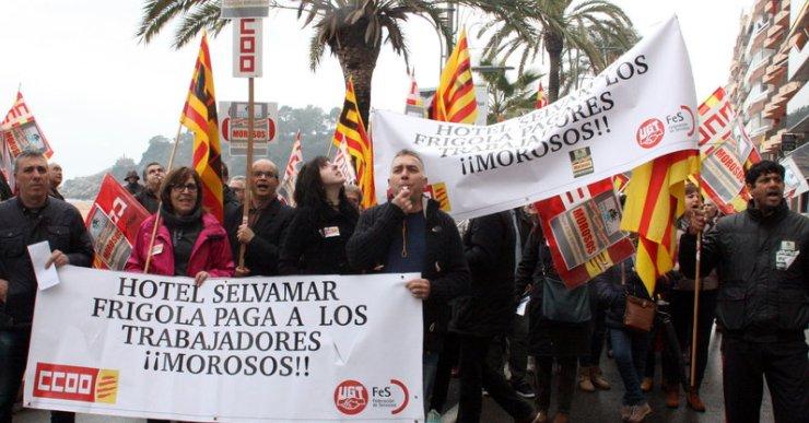 ICV – EUiA atorga l'Espurna als treballadors de l'antic hotel Selvamar