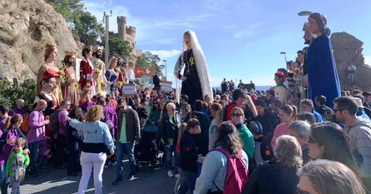 Més de 400 persones a la novena trobada gegantera de la Festa Major de Sant Romà