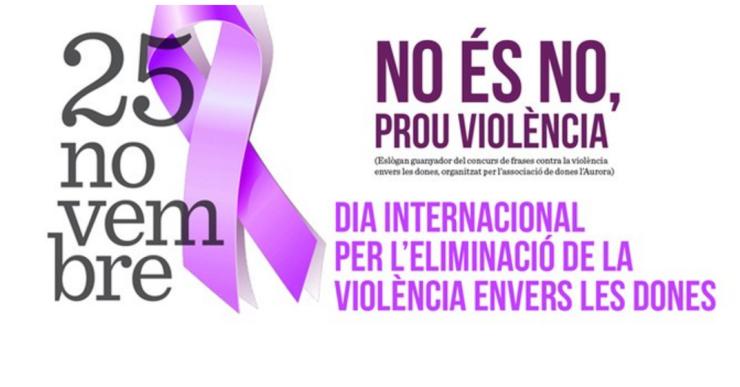 L'Ajuntament i l'Aurora impulsen una campanya de posa gots contra la violència masclista