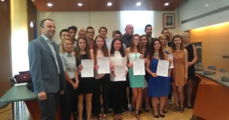L'Ajuntament rep els 14 estudiants Erasmus polonesos que són a Lloret