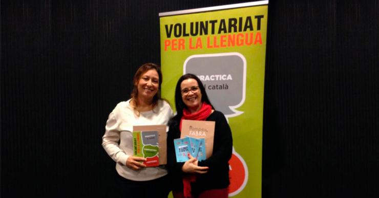 La Nora i la Maribel han pogut seguir el programa de Voluntariat per la Llengua amb vídeotrucades