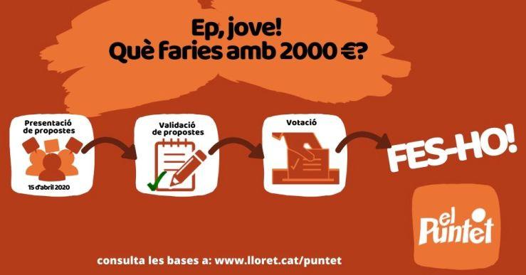 El jovent de Lloret podrà decidir a quina activitat destina un pressupost de 2.000 euros