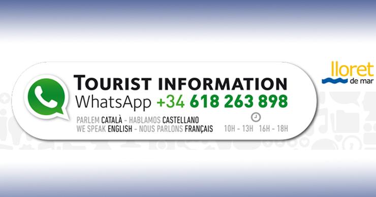 Lloret Turisme ofereix atenció als visitants a través del Whatsapp